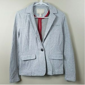 Banana Republic Light Gray Sweatshirt Blazer